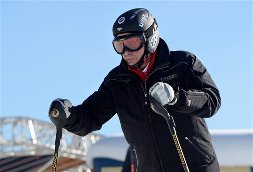 Putin Tests the Ski Slopes in Sochi