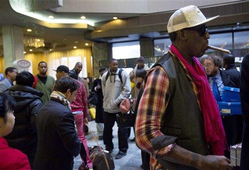 Rodman, Ex-NBA All Stars Arrive in North Korea