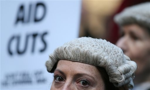 British Lawyers in Wigs Take to the Picket Line