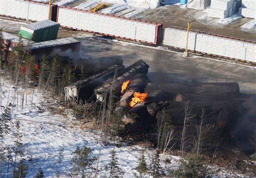 Train Carrying Oil Derails, Catches Fire in Canada