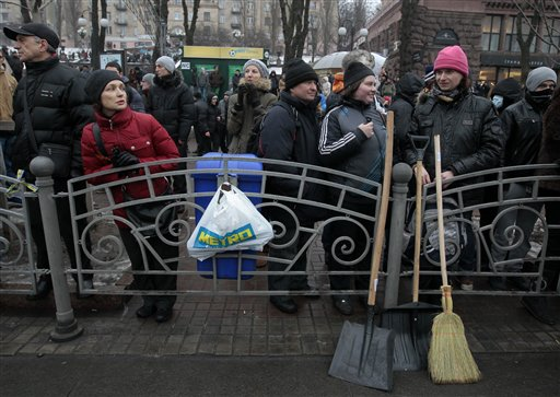 Kiev Warns of Terrorism Threat amid Protests