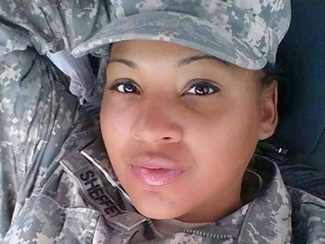 Soldier Posts Selfie of Her Hiding to Avoid Flag Salute