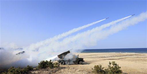 Seoul: North Korea Fires 2 More Missiles amid US Drills