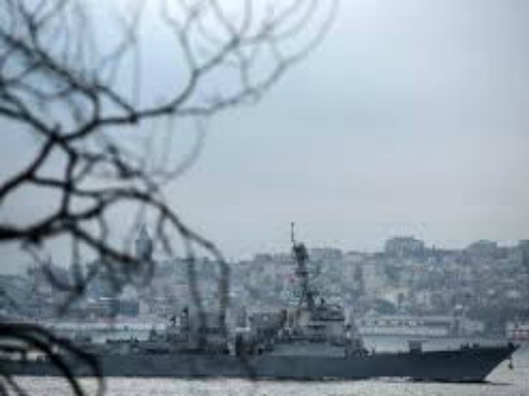 U.S.-Guided Missile Destroyer En Route to Black Sea