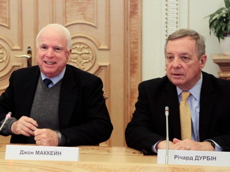 Senators McCain, Durbin Want Obama to Send Weapons to Ukraine