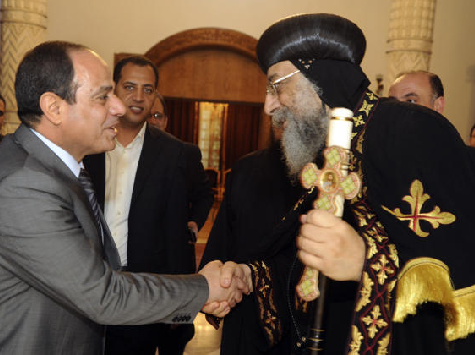 Egypt's Former Military Chief Visits Coptic Pope Ahead of Easter