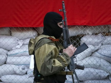 East Ukraine City of Sviatogorsk Freed from Pro-Russians