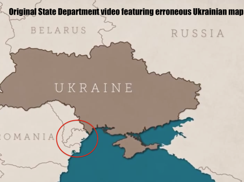 State Department Pulls Pro-Ukraine YouTube Video After Commenters Reveal Map Error