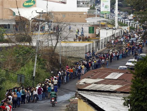 Ration Cards, Block Long Food Lines as Inflation Rate in Venezuela Hits 60%