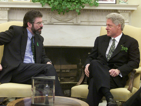 Arrested Sinn Fein Leader Gerry Adams Praised by Bill Clinton for Role in North Ireland Peace Process