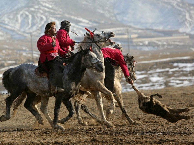 Buzkashi: Afghanistan's National Sport Played with a Goat Carcass