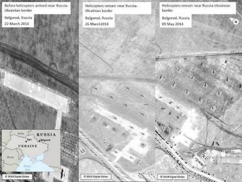 NATO Satellite Images Show Russian Troops Still on Ukraine Border