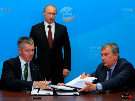 ExxonMobil, BP Sign Contracts with Russian Gas Giant Rosneft