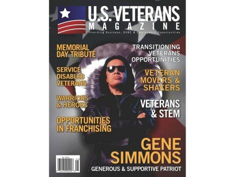 Gene Simmons on Cover of U.S. Veterans Magazine