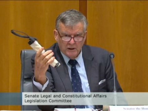 Australian Senator Produces Fake Bomb at Hearing