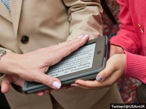 U.S. Ambassador Suzi LeVine Sworn In on an E-Reader