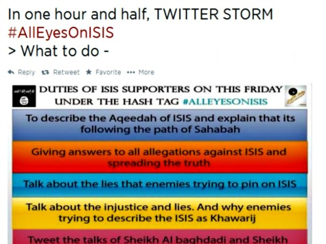 Support for ISIS Terror Group Goes Worldwide on Twitter