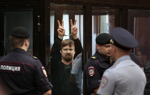 Anti-Putin Russians Sentenced to 4½ years on 'Riot' Conviction