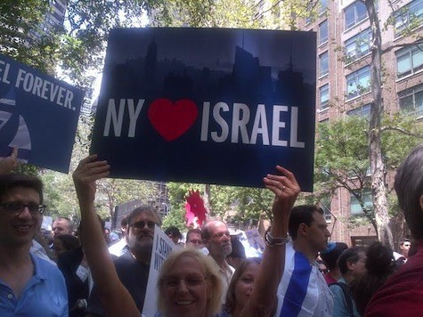 Ten Thousand Gather Peacefully in Manhattan to Support Israel Against Hamas Terrorism