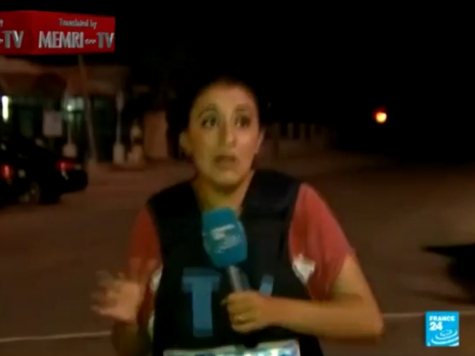 French Gaza Reporter Ducks for Cover as Hamas Rocket Interrupts Broadcast