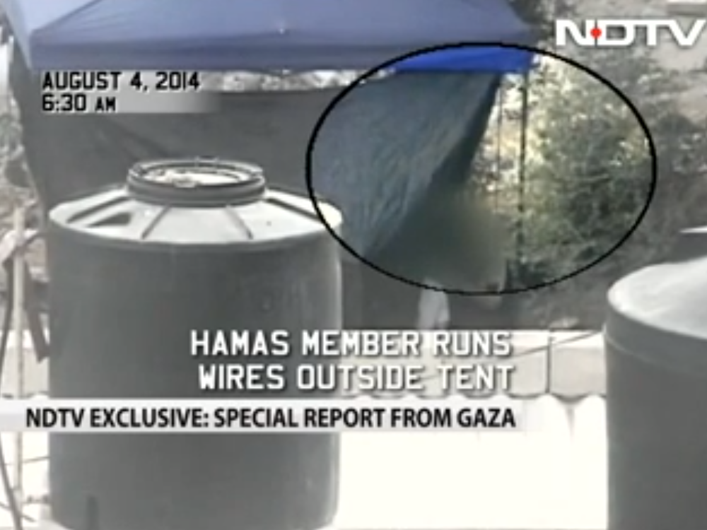 Video: Indian TV Crew Catches Hamas Firing Rocket from Outside Their Hotel