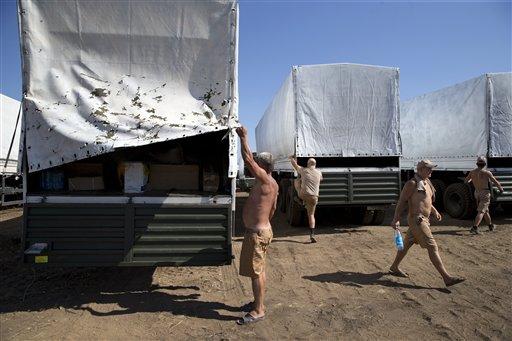 Russia Lets Ukraine Inspect Aid Convoy