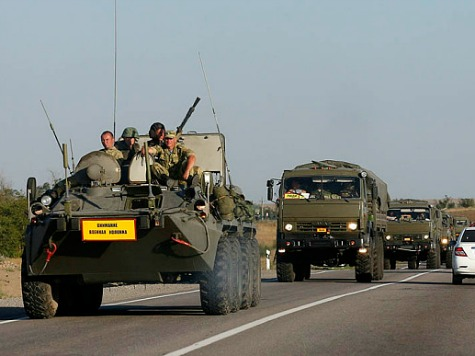 Ukraine Destroys Russian Military Vehicles That Entered in the East