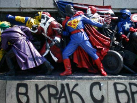 Russia Angered By Bulgarians Replacing Soviet Monuments with American Superheroes