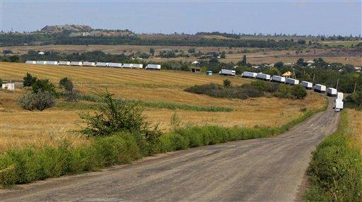 Russian Aid Convoy Reaches War-Torn Luhansk