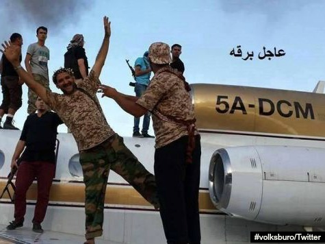 Photos Surface of Jihadists Allegedly Posing with Captured Jetliners in Tripoli
