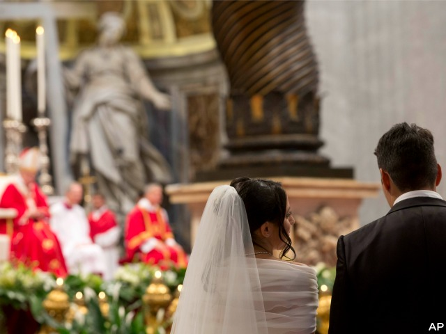 Media Reports Distort Meaning of Papal Wedding Ceremony