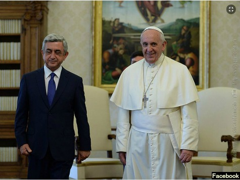 Pope Meets with Armenian President
