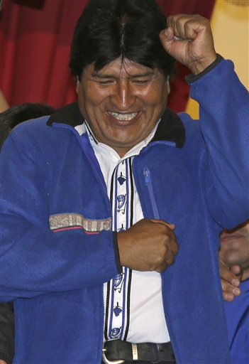Bolivia's Morales Coasts to 3rd Term as President