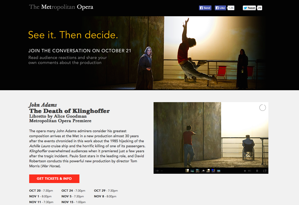 Met Creates Special Website to Defend Klinghoffer #TerrorOpera