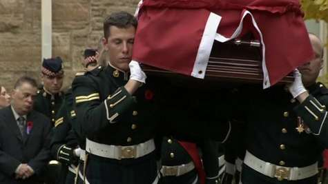 Crowds Gather for Funeral of Canadian Soldier