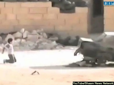 Syrian Boy Dodges Sniper Fire to Rescue Young Girl