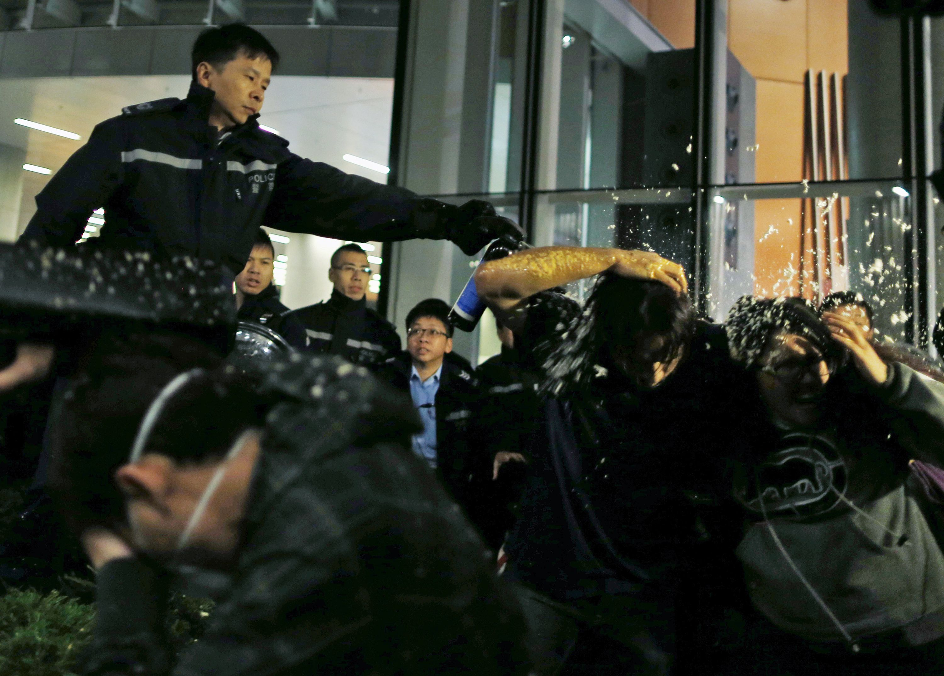 Hong Kong Protesters Break into Government Building as Tensions Flare Again