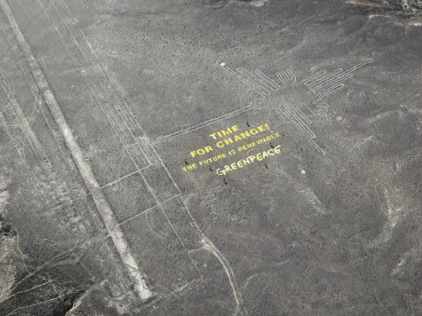 Peru Filing Charges Against Greenpeace for Damaging 1,500-Year-Old Inca Art