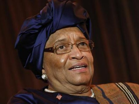 Liberian President Receives Ebola Supplies for Her Birthday