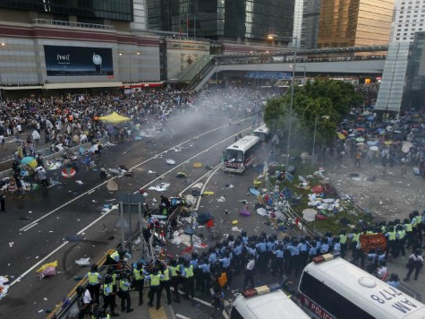 Sec. Kerry Asks Authorities To Show 'Restraint' As China Labels Hong Kong Protests 'Illegal'
