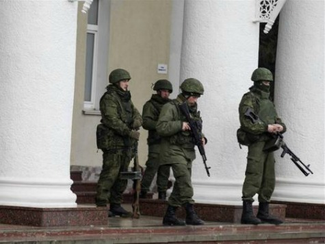 Gunmen Surround Ukraine's Infantry Base in Crimea