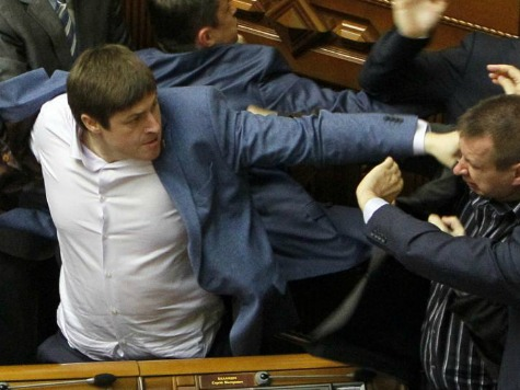 Fist Fight Breaks Out During Ukraine's Parliament Meeting