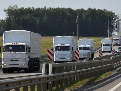 World View: Mammoth Russian Truck Convoy Heads for Confrontation at Ukraine Border