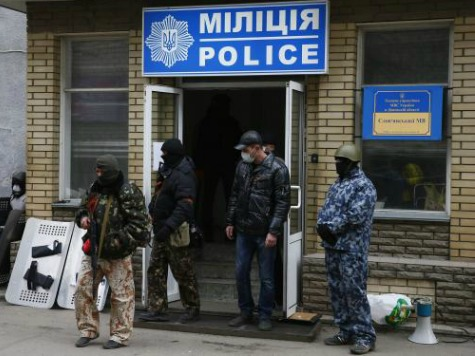 Police Station in Horlivka, Ukraine Captured by Pro-Russian Forces