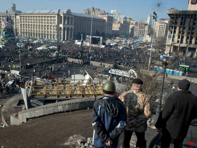 Police Remove Kiev's 'Euromaidan' Protest Settlement over Ukrainian Objections