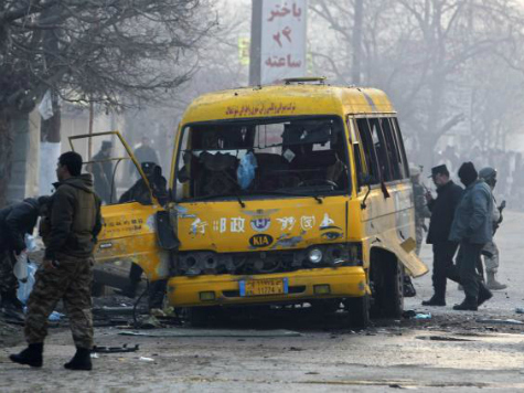 Taliban Kills Four, Wounds 22 in Suicide Bombing of Afghan Army Bus