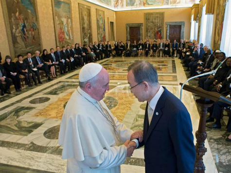 Pope Francis Tells UN Chiefs to Protect the Unborn