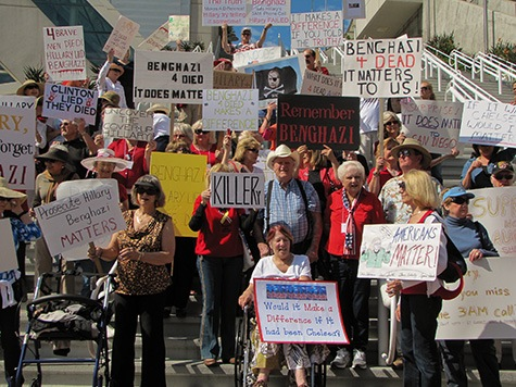 Benghazi Mother at San Diego Protest: 'Hillary Lied'