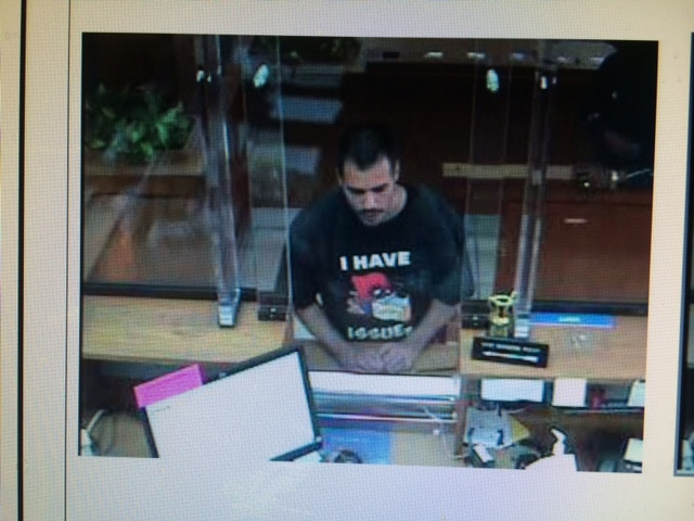 Man Robs Bay Area Bank Wearing 'I Have Issues' T-Shirt
