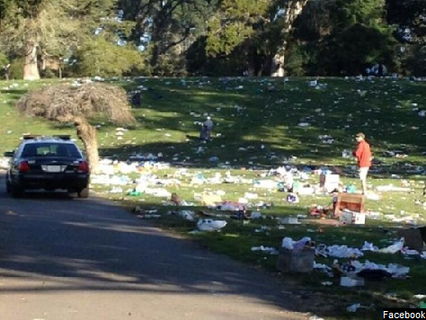 '420' Revelers Leave Golden Gate Park with 10,000 Pounds of Garbage